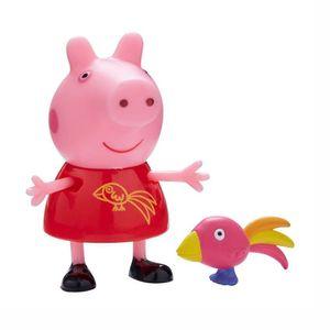 Auswahl Spielfiguren | Peppa Wutz | Peppa Pig | Figur mit Zubehör, Figur:Peppa Wutz mit Papagei