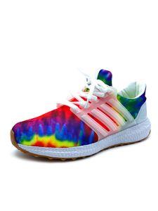 Damen Graffiti-Laufschuhe mit dicken Sohlen und farbenfrohen Turnschuhen,Farbe: Bunt,Größe:41