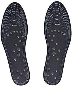 Akupressur Abnehmen Einlegesohlen Fußmassagegerät Magnetfeldtherapie Gewichtsverlust für Füße Waschbar und Schneidbar Passt Männer und Frauen 1 Paar von  (Schwarz)