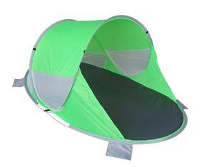 Strandzelt Pop Up Strandmuschel Wetter- und Sichtschutz grau + grün