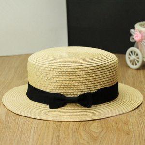Neue Mode Frauen Lady Fedora Hut Trilby Bowknot Stroh Panama Beach-Sonnenhut