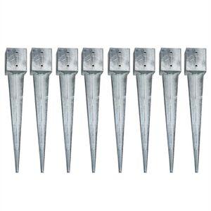Einschlaghülsen Erdanker 8x Einschlagbodenhülse 121x121x900 mm Bodenanker