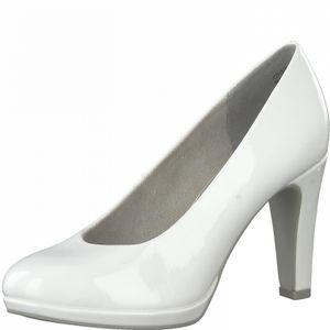 MARCO TOZZI Damen Pumps High Heels Lack 2-22412-26, Größe:38 EU, Farbe:Weiß