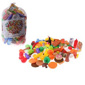 120pcs bunte Obst, Gemüse, Lebensmittel, Desserts und Getränke Küchenspielzeug für Kinder und Baby