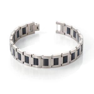 Boccia Herren Armband 0334-01 Titan Kautschuk 21 cm