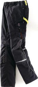 Terrax Workwear  Bundhose, Gr. 54, schwarz/limette, 65 % Polyester / 35 % Baumwolle