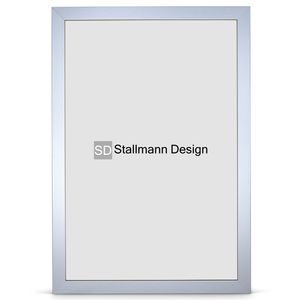 Stallmann Design Bilderrahmen New Modern 70x100 cm alu gebürstet Rahmen fuer Dina 4 und 60 andere Formate Fotorahmen Wechselrahmen aus Holz MDF mehrere Farben wählbar Frame für Foto oder Bilder