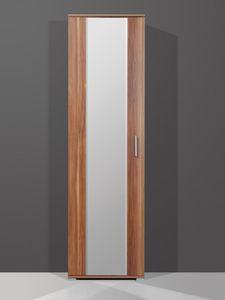 Garderobenschrank ; Farbe: Walnuss-Nachbildung ; Maße: B 54 cm x T 34 cm x H 197