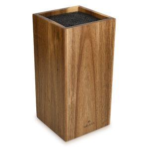 Messerblock aus Akazienholz mit Borsteneinsatz
