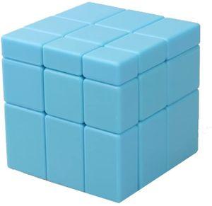 Lernspielzeug Irregular Spiegel Zauberwürfel 3D Magic Puzzlewürfel (3x3 Blau)