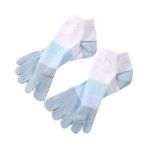Striped Toe Socks Warme Baumwollsöckchen Für Männer Und Frauen Farbe Blau