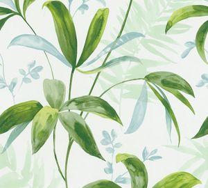 Architects Paper Dschungeltapete Jungle Chic Palmentapete Vliestapete grün weiß 10,05 m x 0,53 m