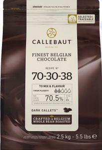 Callets, extra dunkle Schokolade 70,5 %,  2,5 kg