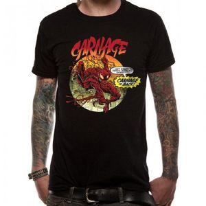 Marvel Unisex Erwachsene Venom Carnage Is Back Design T-Shirt CI1391 (M) (Schwarz)