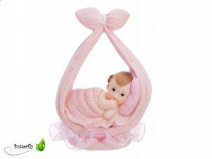 Tortenfigur Baby, Auswahl:DF2D Mädchen in Baby-Bündel 11cm
