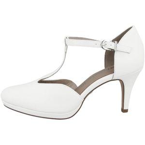 Tamaris Damen Schuhe Pumps T-Steg Plateau 1-24463-26, Größe:37 EU, Farbe:Weiß