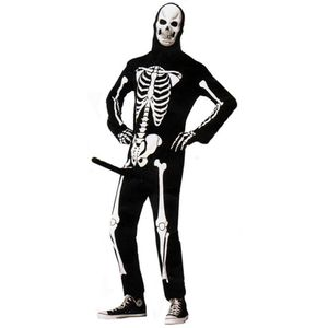 Herren Kostüm Skeleboner - Lustiges Skelettkostüm mit Pumpe, Größe:M/L