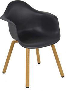 4 Stück Stuhl Esszimmerstuhl Schalenstuhl Retro MONTREUX schwarz
