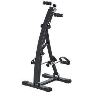 HOMCOM Heimtrainer Bewegungstrainer Pedaltrainer für Senioren Stahl Schwarz 41 x 50 x 96cm