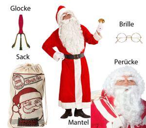 Santa Claus Kostüm  XL - Weihnachtsmann Set - Komplett in XL m Brille