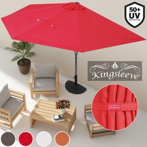 Sonnenschirm Ø 2,7m UV-Schutz 50+ halbrund Balkonschirm Terrassenschirm Schirm, Farbe:anthrazit