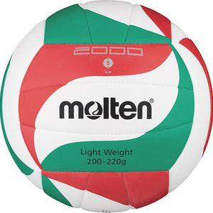molten Volleyball Trainingsball Weiß/Grün/Rot V5M2000-L Gr. 5