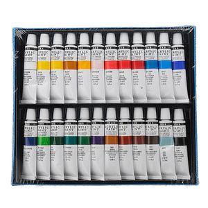 24er Acrylfarbe Acryl Farben Set Künstlerfarbe Malfarbe Malen Farbe Tuben Künstler
