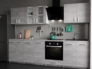 KÜCHE KÜCHENZEILE KÜCHENBLOCK MODERN 280 CM Einbauküche beton