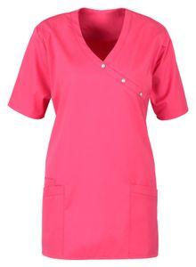 Größe L beb Damen Kasack Schlupfkasack Kurzarm Pink 50 % Baumwolle 50 % Polyester