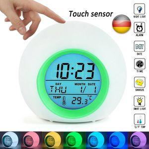 Melario LED Wecker Digital Kinder Alarmwecker Lichtwecker Stimmungslicht Nachttischlampe