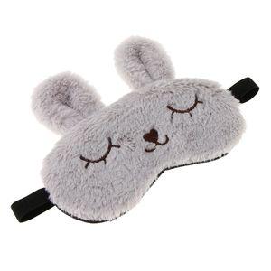 Kinder Erwachsene Plüsch Bunny Rabbit Schlafmaske Eye Shade Cover Blindfold Grey Grau wie beschrieben