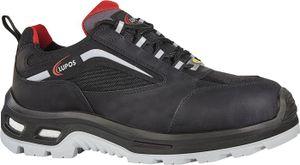 LUPOS Sicherheitsschuh Petyr Größe 45 schwarz S3 SRC ESD EN ISO 20345 Pull-Up Leder mit Cordura®