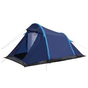 Campingzelt Tunnelzelt , Wasserdicht und Winddicht, für Familien Reisen, Strand, Camping und Outdoor mit Aufblasbaren Stangen 320×170×150/110 cm Blau