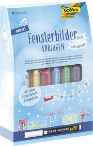 """folia Fensterbilder-Vorlage Maxi-Set """"KALTE JAHRESZEIT"""""""