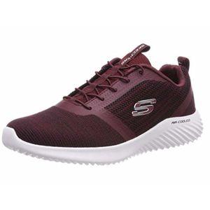 Skechers Bounder Herren Sneaker Rot Schuhe, Größe:45