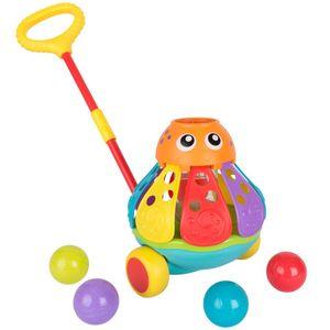 Playgro Schiebetier Oktopus mit Bällespiel