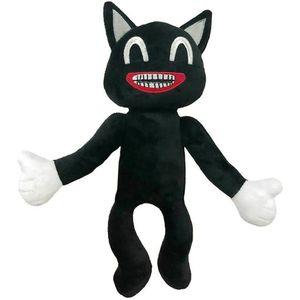 Cartoon Sirene Kopf Horror Schwarze Katze Plüsch Kuscheltier Gefüllte Puppen Kinder Geschenk Farbe : Schwarze Katze(30cm)
