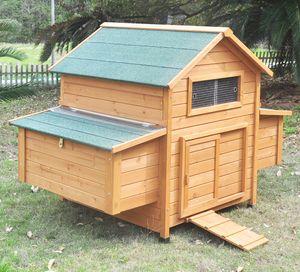 """Hühnerstall Hühnerhaus Chickenhouse Nr. 02 """"Gluckshaus"""" mit Eierbox und Wanne"""