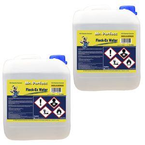Mr. Perfect® Fleck-Ex Fleckenwasser, 2 x 5L - Textilreiniger beseitigt Verunreinigungen von Öl, Fett, Teer, Getränken, uvm.