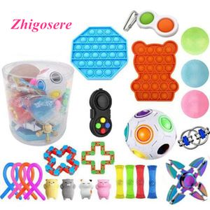 25 Stück / Set Pop It! Fidget Sensory Toy Autismus Stressabbau Spielzeug