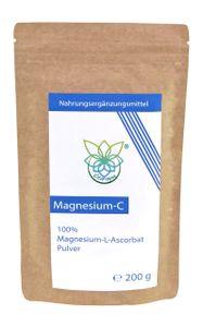 VITARAGNA® Magnesium-C Pulver, Magnesium-Ascorbat als Reinsubstanz, Vitamin-C in Pulverform als leicht lösliches, 200 g Magnesiumascorbat