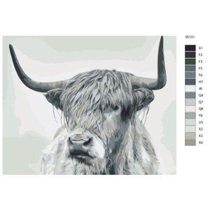 "Malen nach Zahlen ""Stier"", 40x50cm, KTMK-35131"