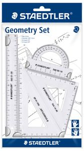 STAEDTLER Geometrie-Set klein 4-teilig transparent