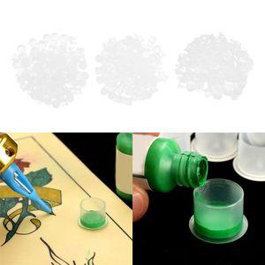 300stk. 15mm Tattoo Farbkappen Tattoo Cup Tintenbecher Ink Cups, Einzigartige Basis Verhindern Auslaufen von Tinte