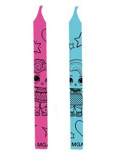 geburtstagskerzen 6 cm Wachs rosa/blau 12 Stk