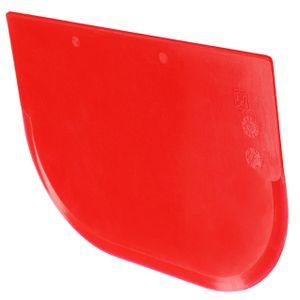 mumbi Teigschaber Teigstecher Tortenspachtel Teigportionierer Teigkarte Teigschneider Cremeschaber 122 x 85mm in rot