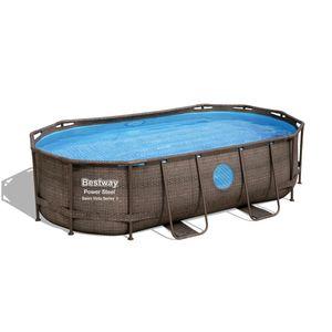 Bestway Power Steel™ Frame Pool Komplett-Set, oval,  427x250x100cm, 56714