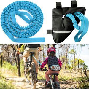 Miixia Abschleppseil Fahrrad KinderTraktionsseil Eltern Kind Zugseil Abschleppseil mit Tasche Blau