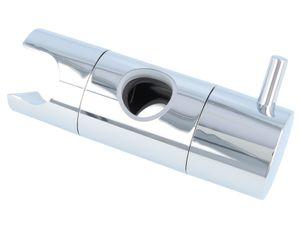 tecuro Design-Brausehalter für Wandstange Ø 18 mm Kunststoff verchromt