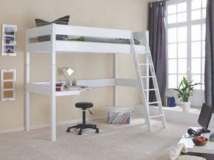 Hochbett RENATE Kinderbett inkl. Schreibtisch Kinderzimmer Buche